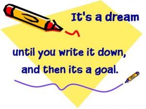 dreams vs. goals